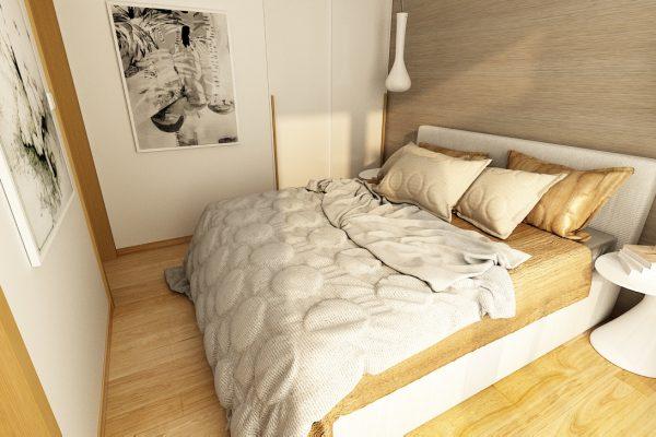 jedno izbový spálna