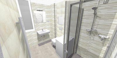 kúpelňa - typ B - štandard - byt 202 - chicago mureto 11