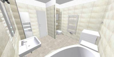 kúpelňa - typ D2 - byt 205 - chicago mureto 11